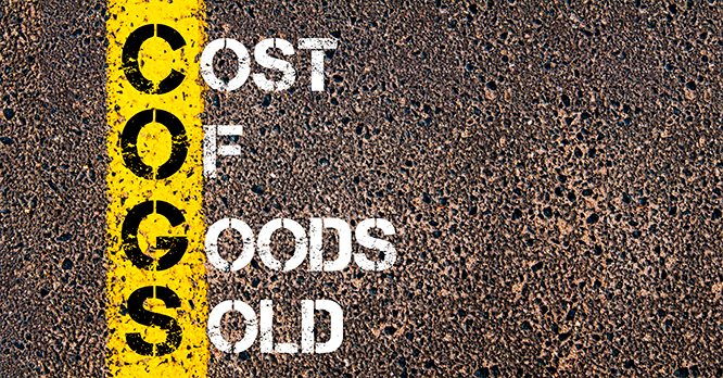 Cost of Goods Sold... a tricky one!